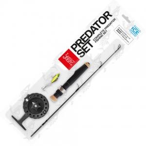 Комплект зимовий Lucky Joh PREDATOR SET(вудка+катушка+балансир) 51см