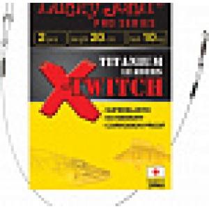 Поводок титановий LJ Pro X-TWITCH TITANIUM   15см/10кг *2