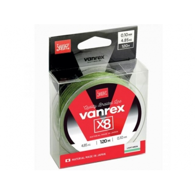 Шнур Lucky John Vanrex х8 Light Green 120m 0.13mm 6,8кг (LJ4112-013)