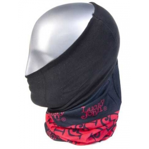"""Бафф - захист обличчя/шиї/голови """"LUCKY JOHN"""" (PL,червоний) / AM-6505"""
