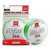 Шнур BASARA Light Green Х4 PE 150 м 0,091 мм