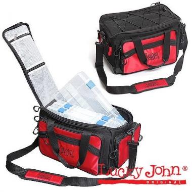 Сумка рыб.с коробкой (4шт.) Lucky John 4-box hang bag 42х25х25 LJ-108