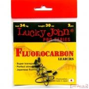 Поводок фрлюорокарбоновый FLUOROCARBON 25см / 22кг 2шт