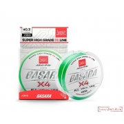 Шнур BASARA Light Green Х4 PE 125 м 0,194 мм